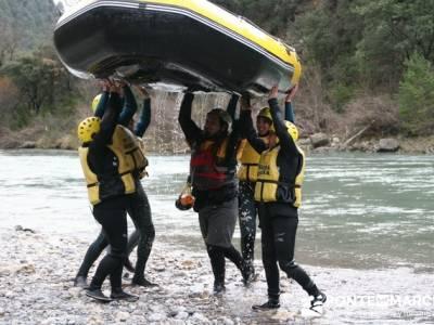 Rafting río Ara; asociacion senderismo; botas trekking madrid